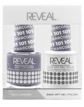 Reveal Duo Gel and Nail Lacquer Set - 101 Charcoal Luster