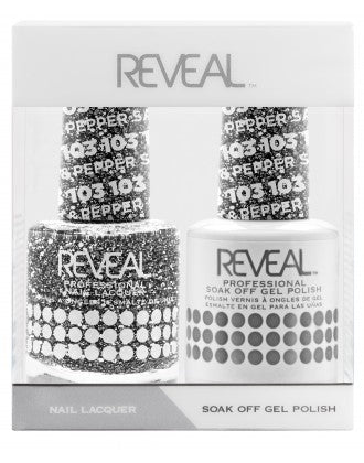 Reveal Duo Gel and Nail Lacquer Set - 103 Salt & Pepper