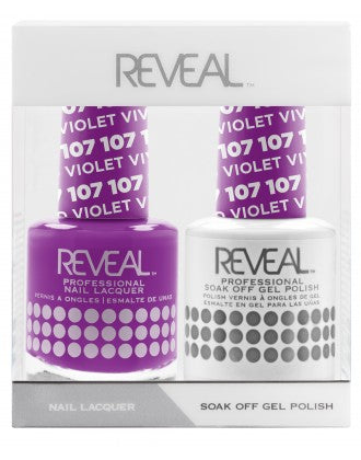 Reveal Duo Gel and Nail Lacquer Set - 107 Vivid Violet