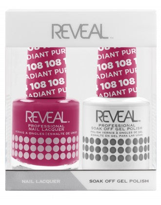 Reveal Duo Gel and Nail Lacquer Set - 108 Radiant Purple