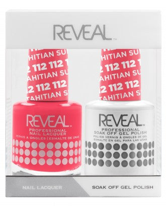Reveal Duo Gel and Nail Lacquer Set - 112 Tahitian Sunset