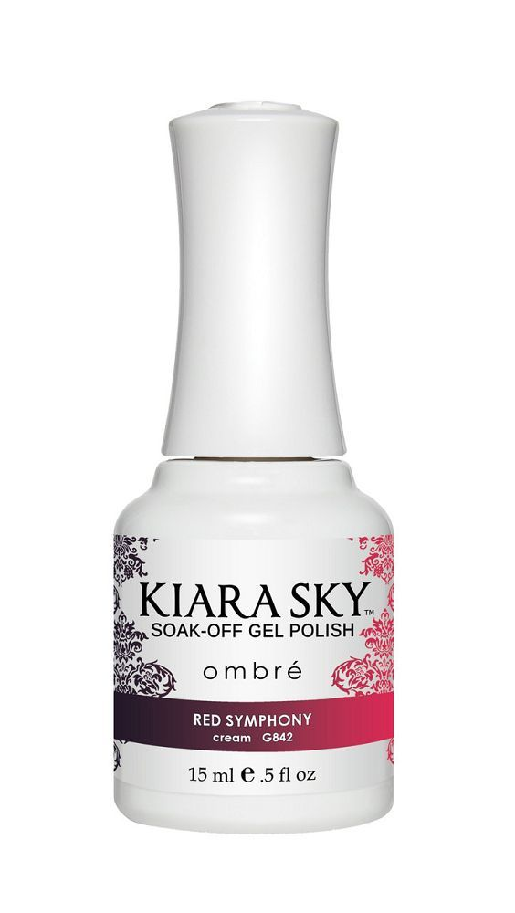 Kiara Sky Gel Polish - G842 Red Symphony