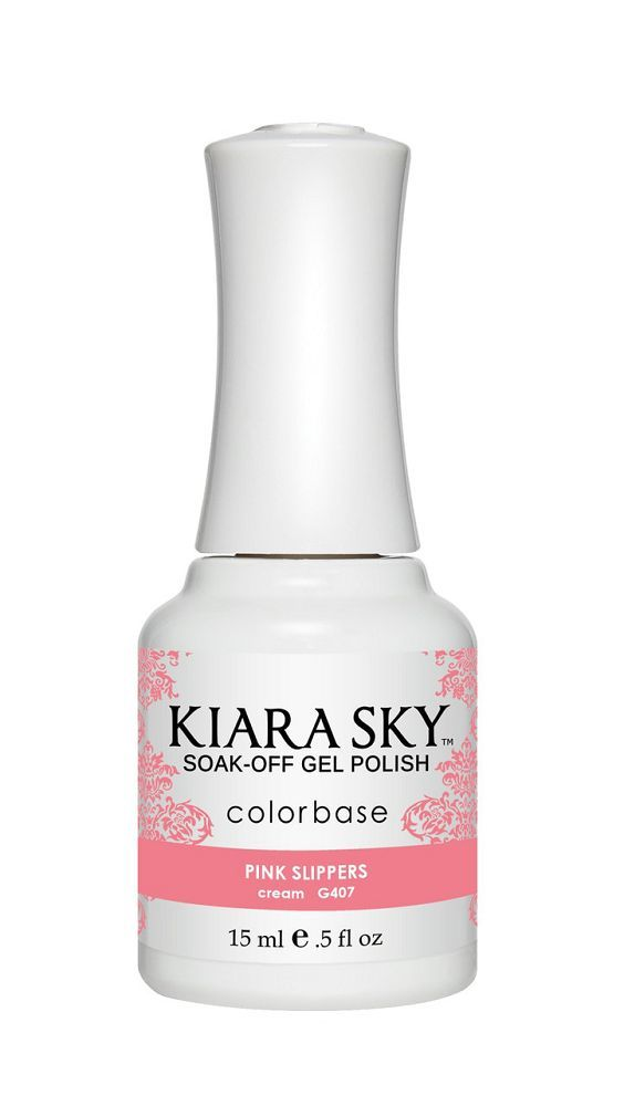 KIARA SKY GEL + MATCHING LACQUER (DUO) - G407 Pink Slippers