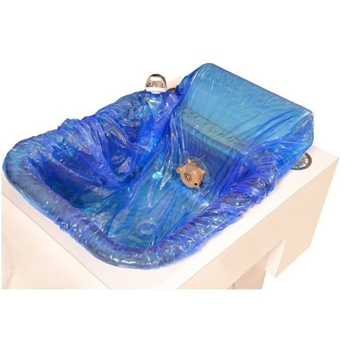 Happy Feet Disposable Pedicure Spa Liner - Blue