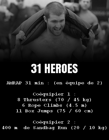 WOD Team Crossfit 31 Heroes