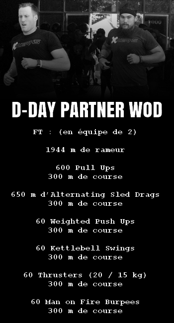 WOD Team Crossfit D-Day Partner WOD
