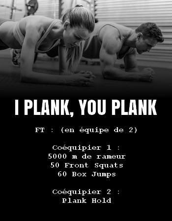 WOD Team Crossfit I Plank You Plank