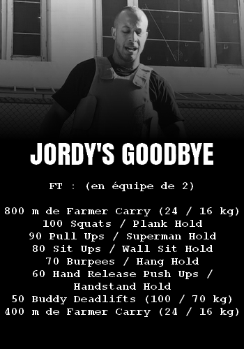 WOD Team Crossfit Jordy's Goodbye