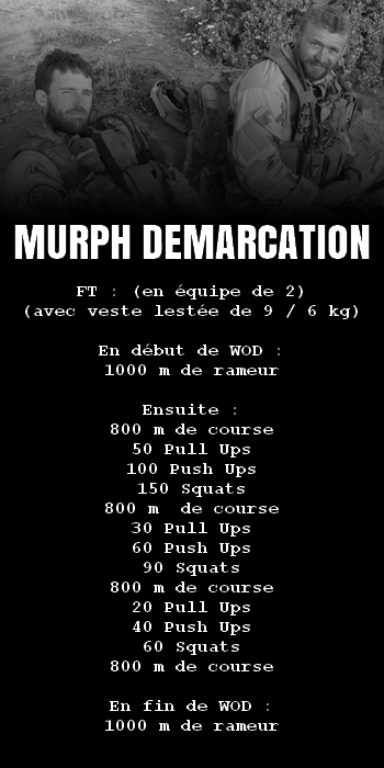 WOD Team Crossfit Murph Demarcation