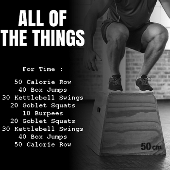 WOD cardio Crossfit All of the Things