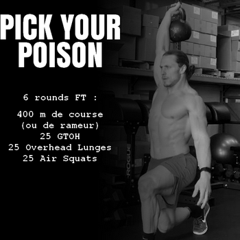 WOD cardio Crossfit Pick your Poison