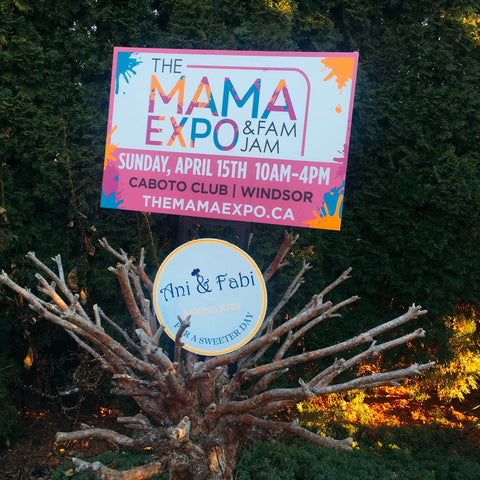 Ani & Fabi is super excited to be part of this year's Windsor Essex Mama Expo & Fam Jam in Windsor Ontario, on April 15th from 10am to 4pm at Caboto Club!