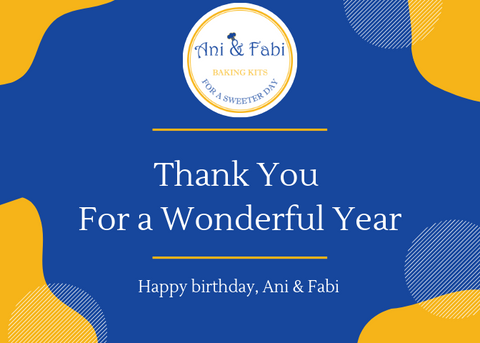 Ani & Fabi 1st Year Thank You