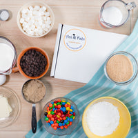 Monthly subscription box with Two Surprise Baking Kits (pre-measured high quality ingredients, no unnecessary additives), easy to follow recipe, free shipping! Cancel or skip anytime you want. Convenient, no-waste, hassle-free baking experience delivered