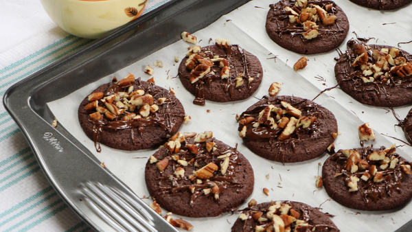 Fancy Chocolate Pecan Cookies