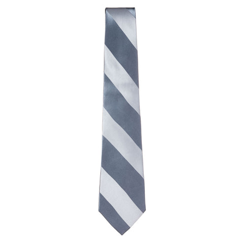 Silver / Charcoal Gray Silk Tie