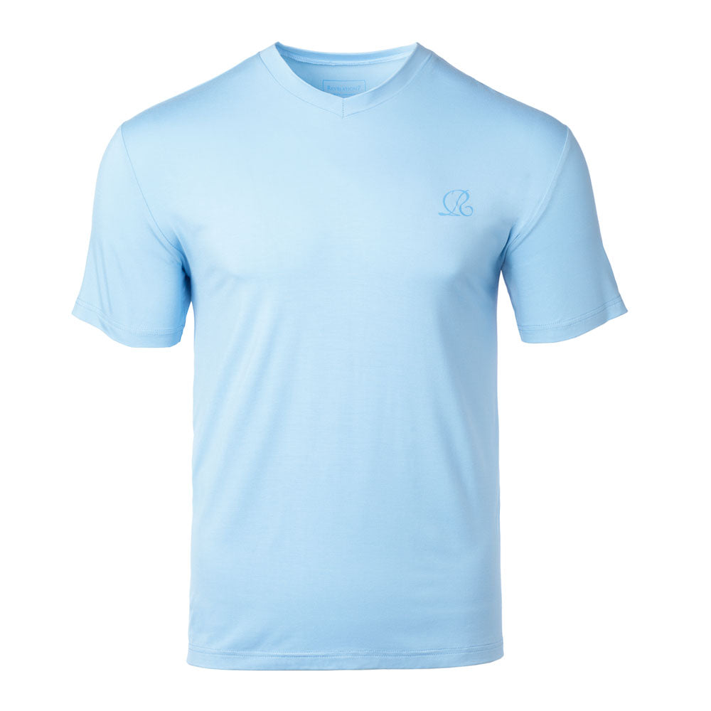 Light Blue Bamboo V-neck