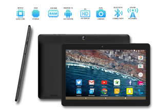 "A1080 - 10.1"" inch Android 10 Q OS Tablet, Google Certified"