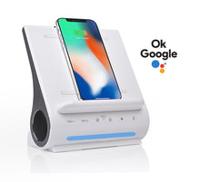 G600 DockAll Assist - Google Assistant Voice Controlled Speakers with Fast Qi Wireless Charging