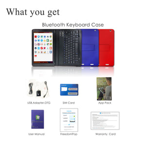 Azpen G1058B - 4G LTE 10 inch Android Tablet with 64GB Storage and Bluetooth Keyboard Case Bundle