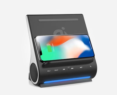 DockAll D108 - 10W Fast Qi Wireless Charging Sound Hub