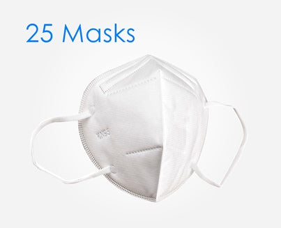 COVID 19 Face Mask Respirator - 25 Pack