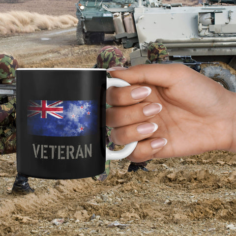 360 White Mug New Zealand Veteran Mug