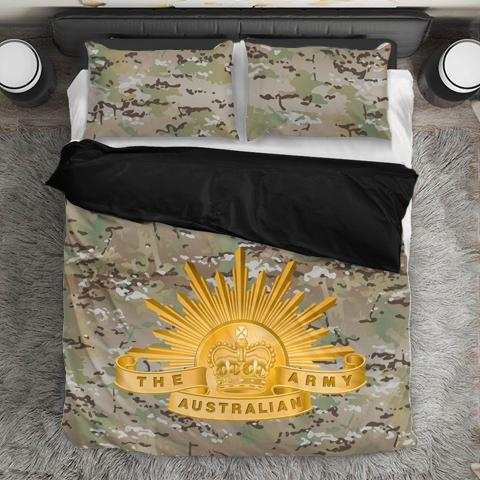 Image of Australian Army Duvet Cover + 2 Pillow Cases - Military Gifts Direct