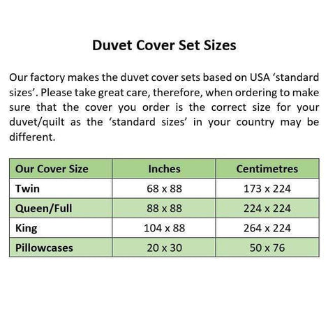 Image of duvet Marine Green Duvet Cover + 2 Pillow Cases