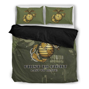 Marine Green Duvet Cover + 2 Pillow Cases