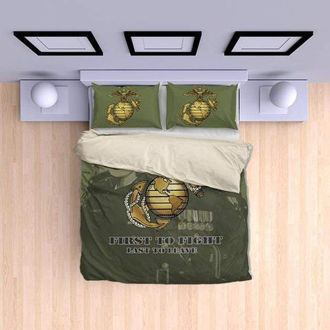 duvet Marine Green Duvet Cover + 2 Pillow Cases