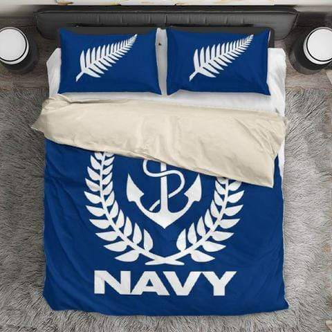 Image of duvet Royal New Zealand Navy Duvet Cover + 2 Pillow Cases