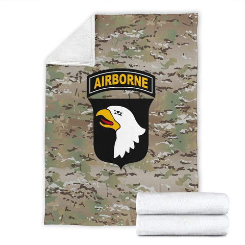 Image of fleece blanket 101st Airborne Division Fleece Throw Blanket