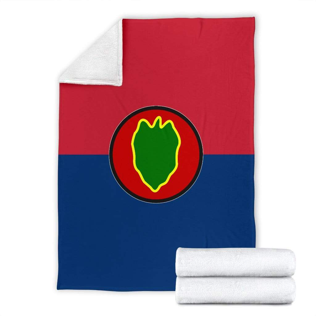 fleece blanket 24th Infantry Division Fleece Throw Blanket