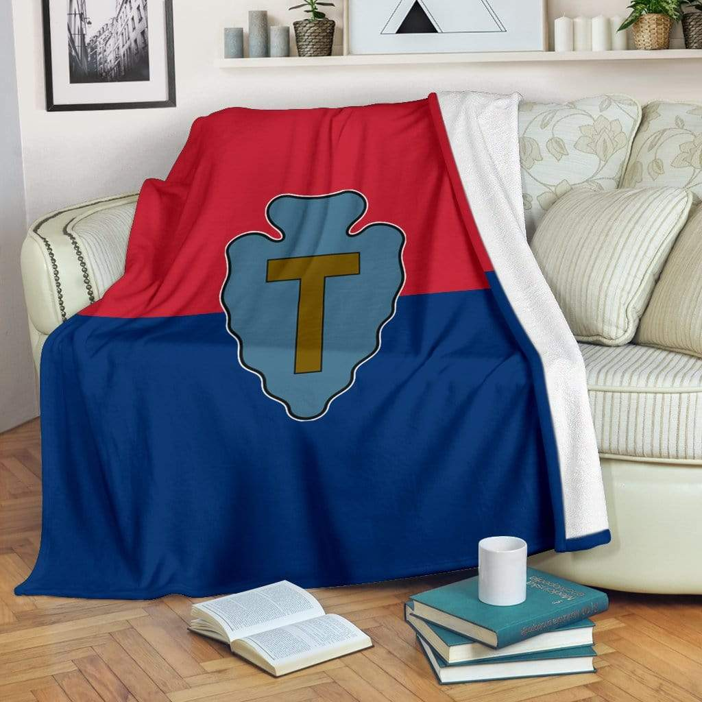 fleece blanket 36th Infantry Division Fleece Throw Blanket