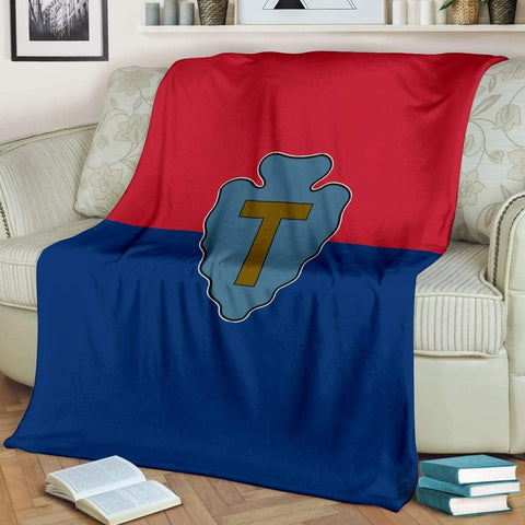 Image of fleece blanket 36th Infantry Division Fleece Throw Blanket
