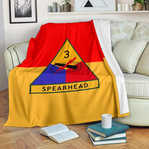 Image of fleece blanket 3rd Armored Division Fleece Throw Blanket