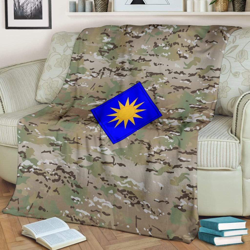 fleece blanket 40th Infantry Division Camo Fleece Throw Blanket