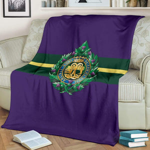 Argyll and Sutherland Highlanders Fleece Blanket
