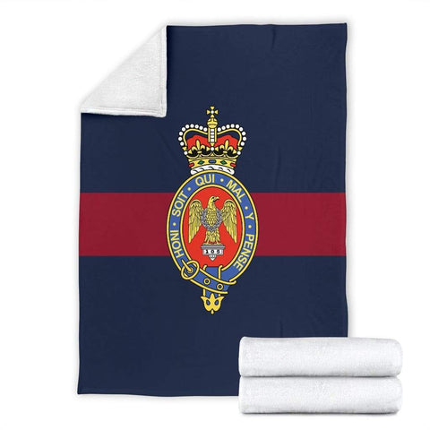 Image of fleece blanket Blues and Royals Fleece Blanket