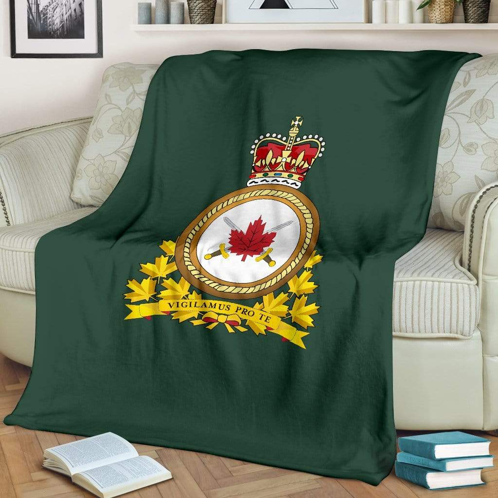fleece blanket Canadian Army (Traditional) Fleece Throw Blanket
