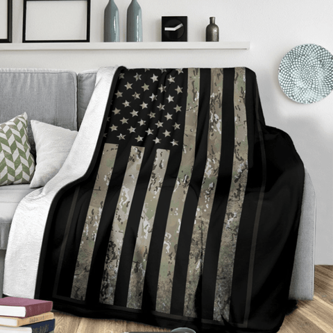 fleece blanket OCP Camouflage Fleece Throw Blanket
