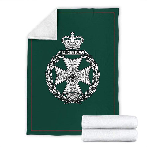 fleece blanket Royal Green Jackets Fleece Blanket