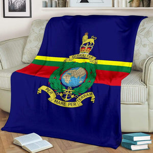 Royal Marine Fleece Blanket (Colour)