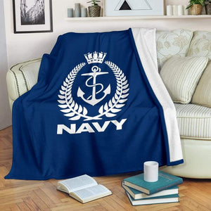fleece blanket Royal New Zealand Navy Fleece Throw Blanket