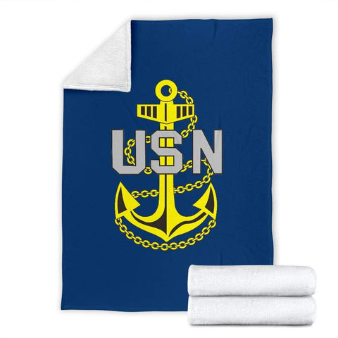 Image of fleece blanket US Navy Fleece Throw Blanket