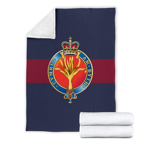Image of fleece blanket Welsh Guards Fleece Blanket