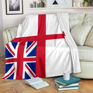 fleece blanket White Ensign Fleece Blanket