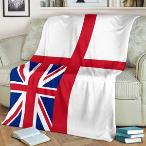 White Ensign Fleece Blanket