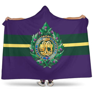 premium hooded blanket Argyll and Sutherland Highlanders Premium Hooded Blanket